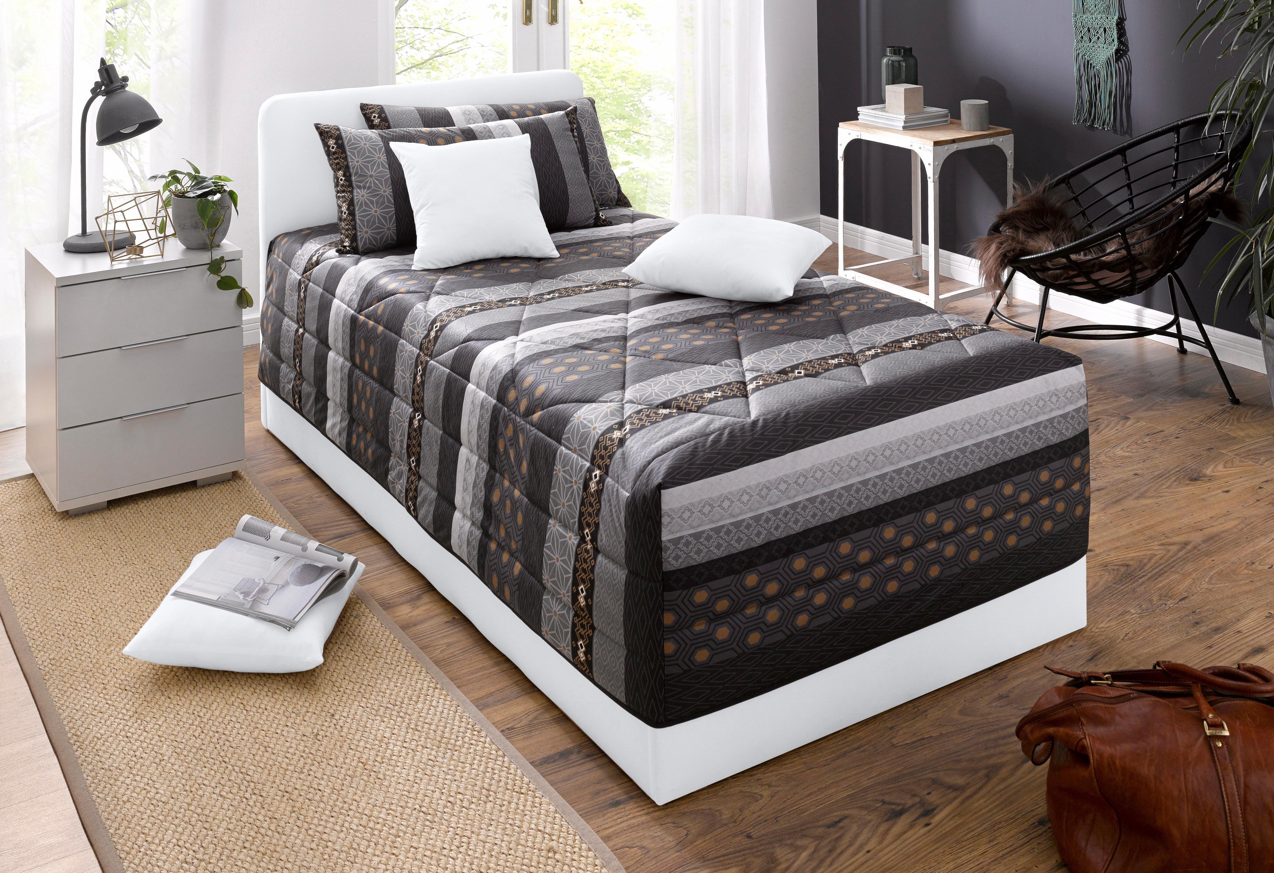 westfalia schlafkomfort polsterbett wahlweise mit bettkasten in 2 h hen und diversen. Black Bedroom Furniture Sets. Home Design Ideas