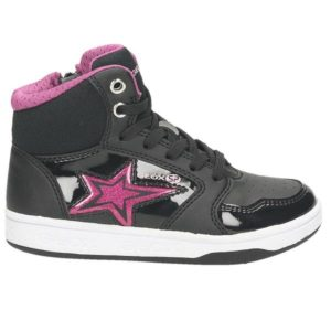 High Top Sneaker, schwarz – kombiniert